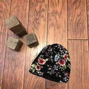 Floral Slouch Beanie